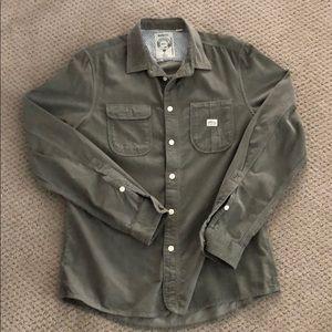 Diesel - Corduroy Button Down Shirt - Olive